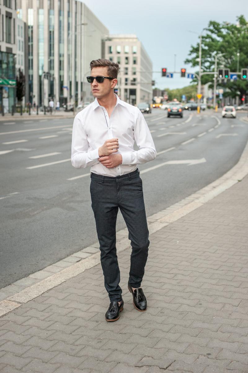 eleganckie białe koszule męskie